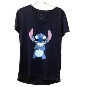 DISNEY Stitch Navy Blue T-Shirt Sz M